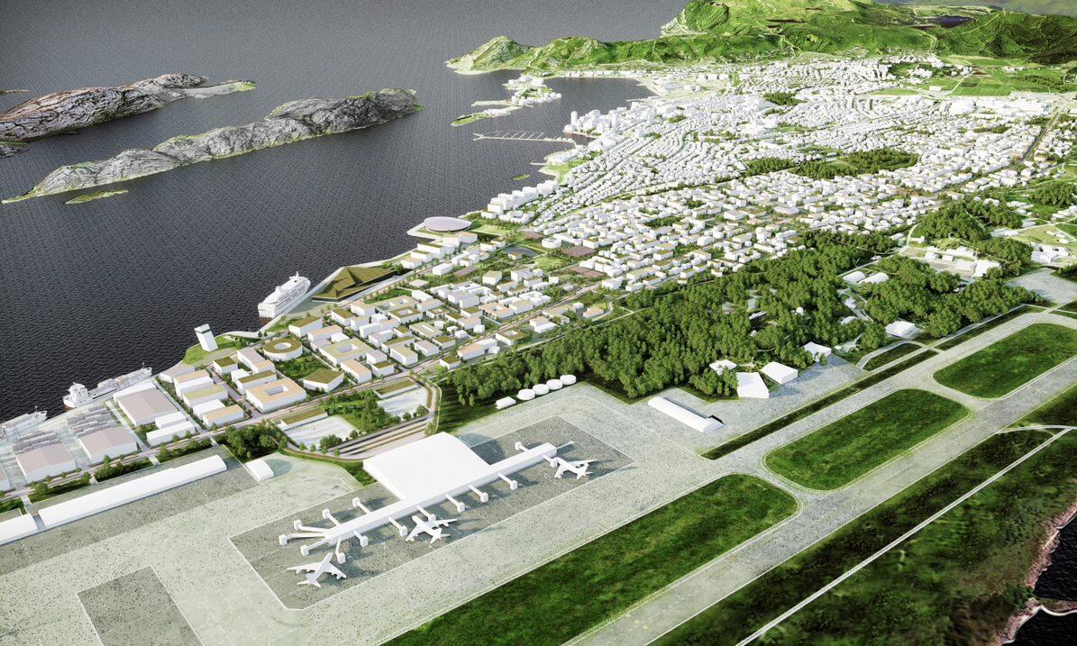 Ny by - Ny flyplass