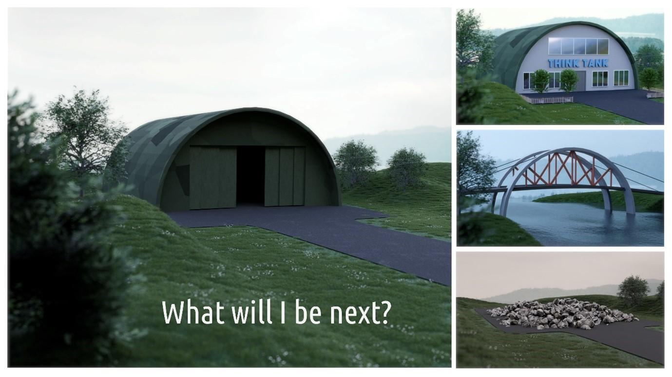 Simulering av ulike metoder for gjenbruk av militære strukturer