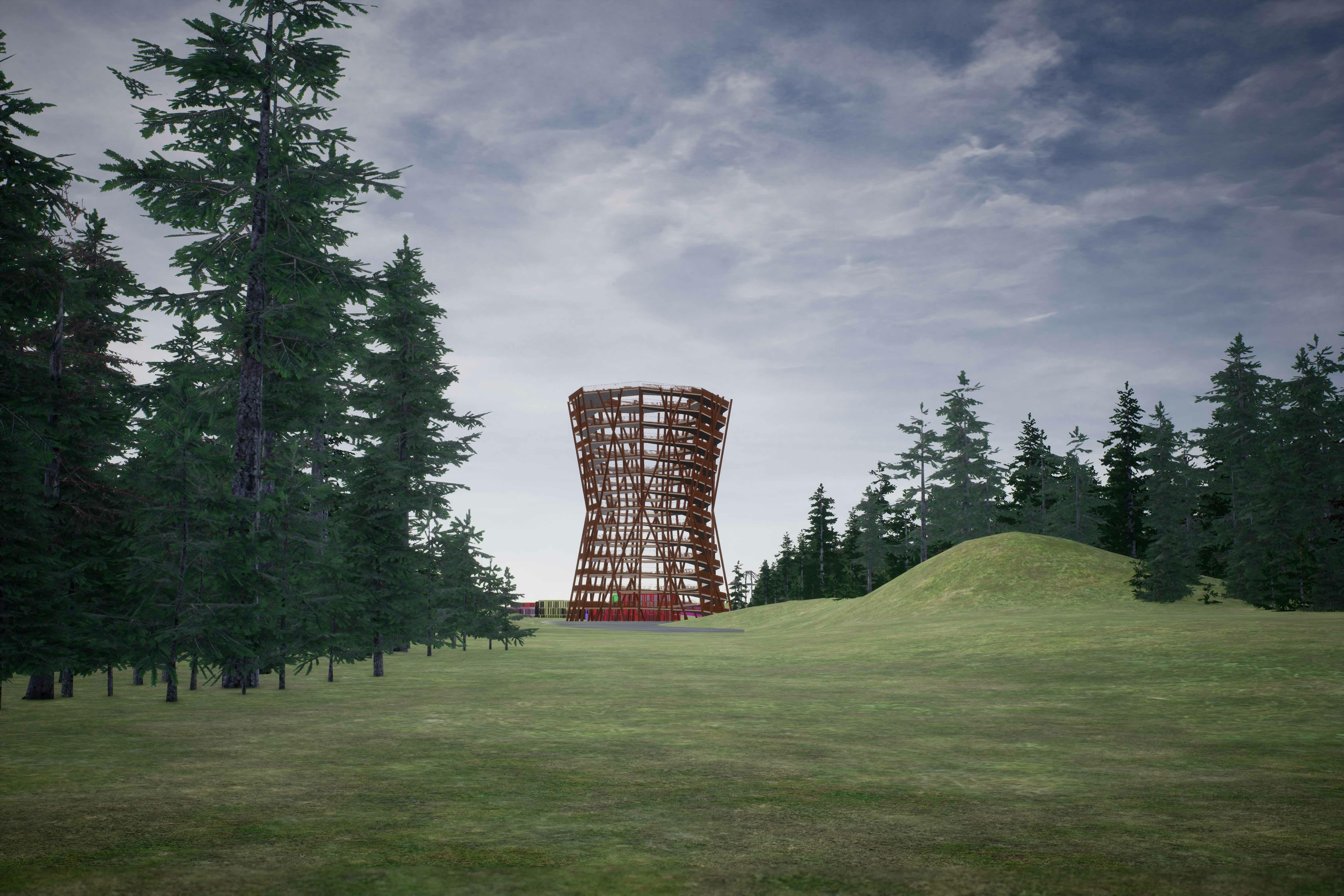 Klatretårn i ny bydel